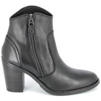 Cipők Női Bokacsizmák Porronet Boots Acap Noir Fekete