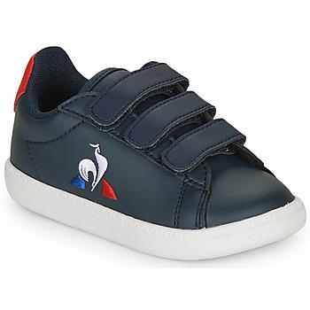 Cipők Gyerek Rövid szárú edzőcipők Le Coq Sportif COURTSET INF Tengerész / Piros