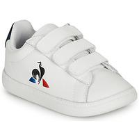 Cipők Gyerek Rövid szárú edzőcipők Le Coq Sportif COURTSET INF Fehér