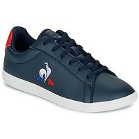 Cipők Gyerek Rövid szárú edzőcipők Le Coq Sportif COURTSET GS Tengerész / Piros
