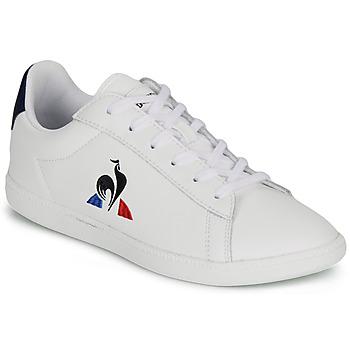 Cipők Gyerek Rövid szárú edzőcipők Le Coq Sportif COURTSET GS Fehér