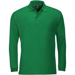 Ruhák Férfi Hosszú ujjú galléros pólók Sols WINTER 2 CASUAL MEN Verde