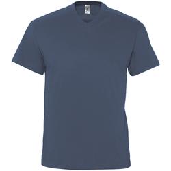 Ruhák Férfi Rövid ujjú pólók Sols VICTORY COLORS Azul