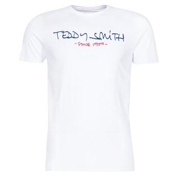 Ruhák Férfi Rövid ujjú pólók Teddy Smith TICLASS Fehér
