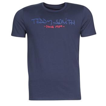 Ruhák Férfi Rövid ujjú pólók Teddy Smith TICLASS Tengerész