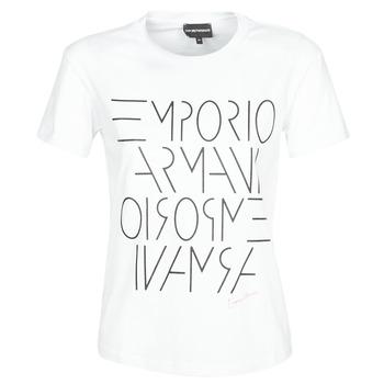 Ruhák Női Rövid ujjú pólók Emporio Armani  Fehér