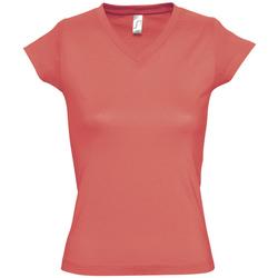 Ruhák Női Rövid ujjú pólók Sols MOON COLORS GIRL Rosa