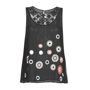 Ruhák Női Trikók / Ujjatlan pólók Desigual TEBAS Fekete