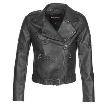 Ruhák Női Bőrkabátok / műbőr kabátok Desigual UTAH Fekete