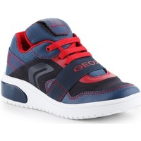 Cipők Gyerek Rövid szárú edzőcipők Geox JR Xled Boy Granatowe