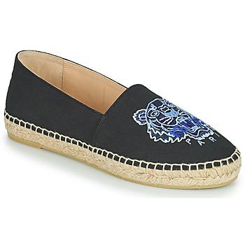 Cipők Női Gyékény talpú cipők Kenzo ESPADRILLE CLASSIC TIGER Fekete