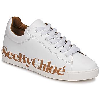 Cipők Női Rövid szárú edzőcipők See by Chloé SB33125A Fehér