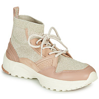 Cipők Női Magas szárú edzőcipők Coach C245 RUNNER Rózsaszín / Bőrszínű / Ezüst