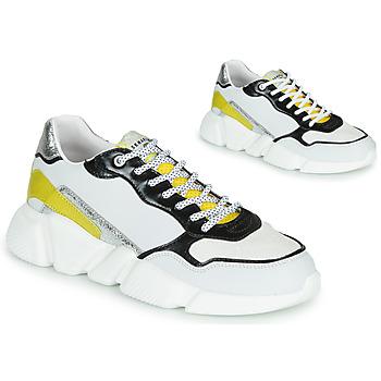 Cipők Női Rövid szárú edzőcipők Serafini OREGON Fehér / Fekete  / Citromsárga