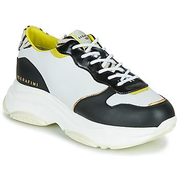 Cipők Női Rövid szárú edzőcipők Serafini BROOKLYN Fehér / Fekete