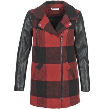 Ruhák Női Kabátok Noisy May TEXAS Piros / Fekete