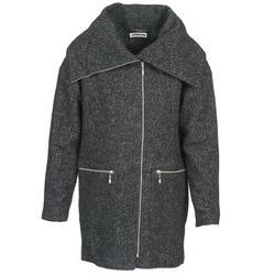 Ruhák Női Kabátok Noisy May ROUND Szürke / Fekete