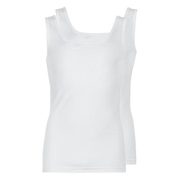 Ruhák Férfi Trikók / Ujjatlan pólók Athena COTON BIO Fehér