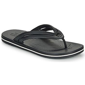 Cipők Női Lábujjközös papucsok Crocs CROCBAND FLIP W Fekete