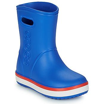 Cipők Gyerek Gumicsizmák Crocs CROCBAND RAIN BOOT K Kék / Piros