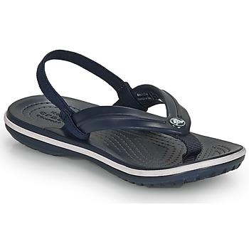 Cipők Gyerek Lábujjközös papucsok Crocs CROCBAND STRAP FLIP K Tengerész