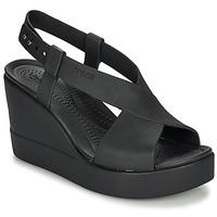 Cipők Női Szandálok / Saruk Crocs CROCS BROOKLYN HIGH WEDGE W Fekete