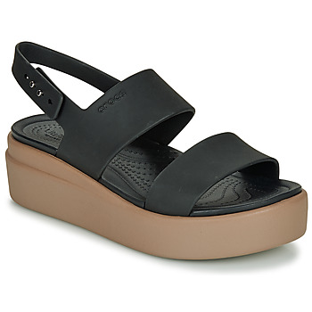 Cipők Női Szandálok / Saruk Crocs CROCS BROOKLYN LOW WEDGE W Fekete  / Teve