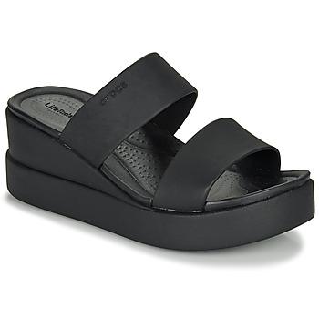 Cipők Női Szandálok / Saruk Crocs CROCS BROOKLYN MID WEDGE W Fekete