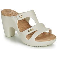Cipők Női Papucsok Crocs CYPRUS V HEEL W Fehér