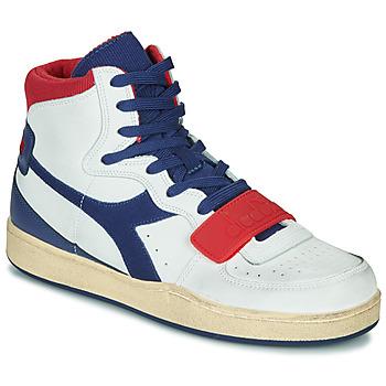Cipők Férfi Magas szárú edzőcipők Diadora MI BASKET USED Fehér / Kék / Piros