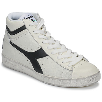 Cipők Magas szárú edzőcipők Diadora GAME L HIGH WAXED Fehér / Fekete