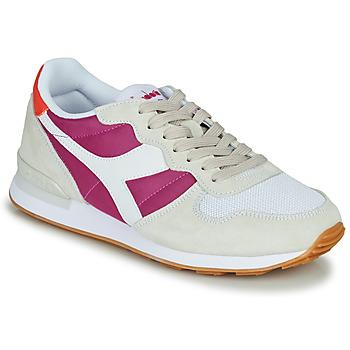 Cipők Női Rövid szárú edzőcipők Diadora CAMARO Bézs / Rózsaszín
