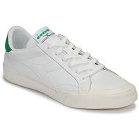 Cipők Női Rövid szárú edzőcipők Diadora MELODY LEATHER DIRTY Fehér / Zöld