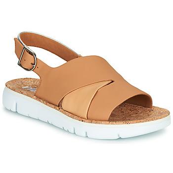 Cipők Női Szandálok / Saruk Camper TWINS Bőrszínű / Fehér