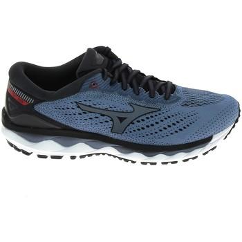 Cipők Férfi Futócipők Mizuno Wave Sky 3 Stone Bleu Kék