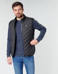 Ruhák Férfi Steppelt kabátok Emporio Armani EA7 TRAIN CORE SHIELD M DOWN LIGHT VEST Fekete