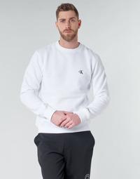 Ruhák Férfi Pulóverek Calvin Klein Jeans CK ESSENTIAL REG CN Fehér
