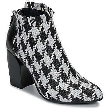 Cipők Női Bokacsizmák Mimmu JESTINE Fekete  / Fehér