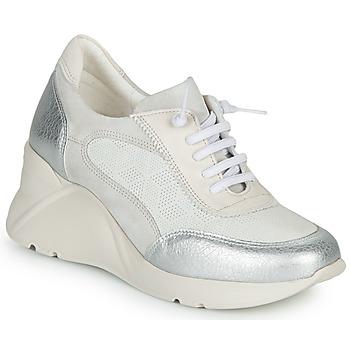Cipők Női Rövid szárú edzőcipők Hispanitas TOKIO Fehér / Ezüst