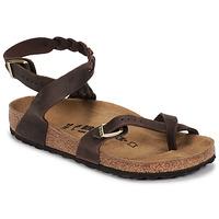 Cipők Női Szandálok / Saruk Birkenstock YARA LEATHER Barna