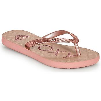 Cipők Lány Lábujjközös papucsok Roxy VIVA GLTR III Rózsaszín