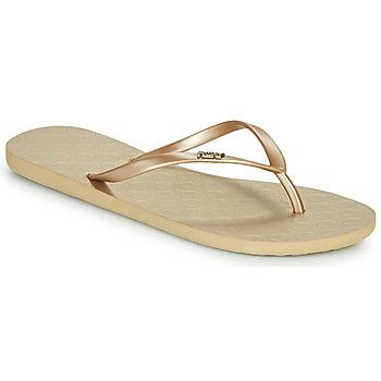 Cipők Női Lábujjközös papucsok Roxy VIVA V Arany