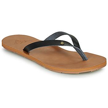 Cipők Női Lábujjközös papucsok Roxy JYLL III Fekete