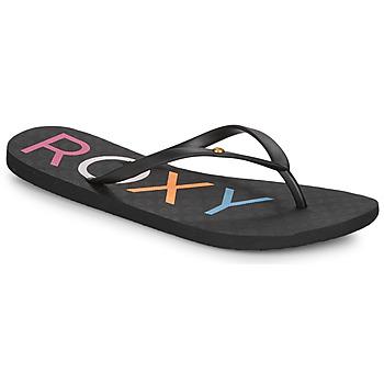 Cipők Női Lábujjközös papucsok Roxy SANDY III Fekete