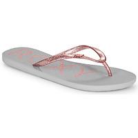 Cipők Női Lábujjközös papucsok Roxy VIVA SPARKLE Szürke / Rózsaszín