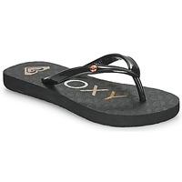 Cipők Lány Lábujjközös papucsok Roxy SANDY III Fekete
