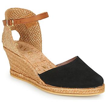 Cipők Női Gyékény talpú cipők Ravel ETNA II Fekete