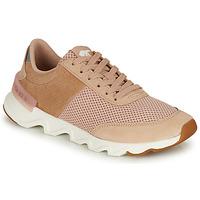 Cipők Női Rövid szárú edzőcipők Sorel KINETIC LITE LACE Bézs / Rózsaszín