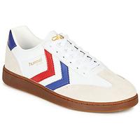 Cipők Férfi Rövid szárú edzőcipők Hummel VM78 CPH LEATHER Fehér / Piros / Kék