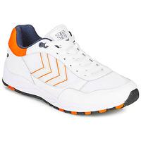 Cipők Férfi Rövid szárú edzőcipők Hummel 3-S SPORT Fehér / Narancssárga